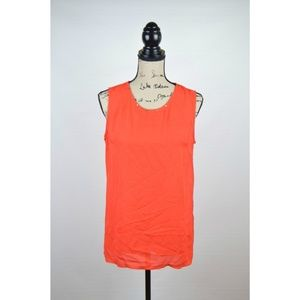 Lola Womens Sleeveless Sheer Blouse Top Size L